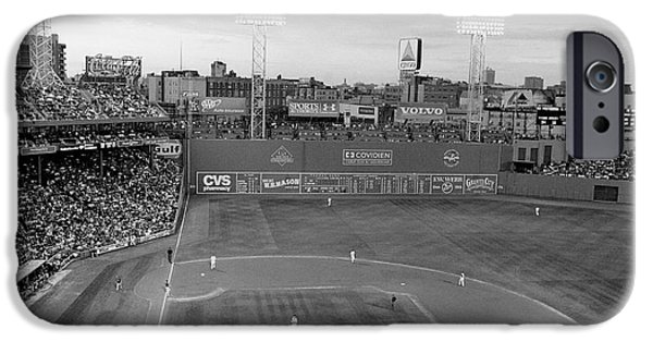 Recently Sold -  - Fenway Park iPhone Cases - Fenway Park Photo - Black and White iPhone Case by Horsch Gallery
