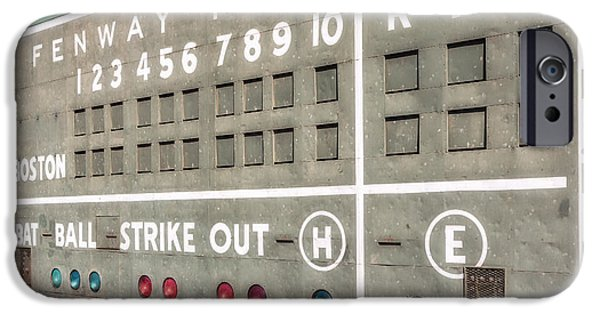 Fenway Park iPhone Cases - Fenway Park Scoreboard iPhone Case by Susan Candelario