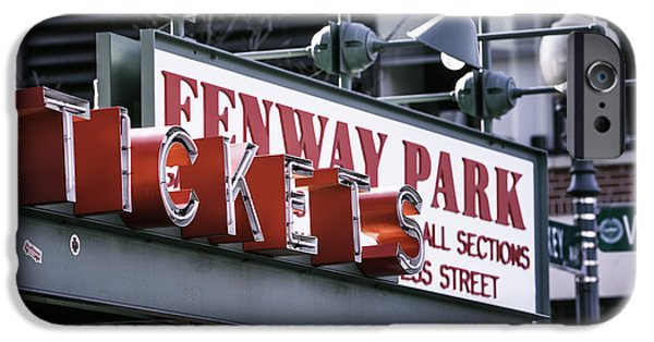 Tickets Boston iPhone Cases - Fenway Tickets iPhone Case by Jerry Fornarotto