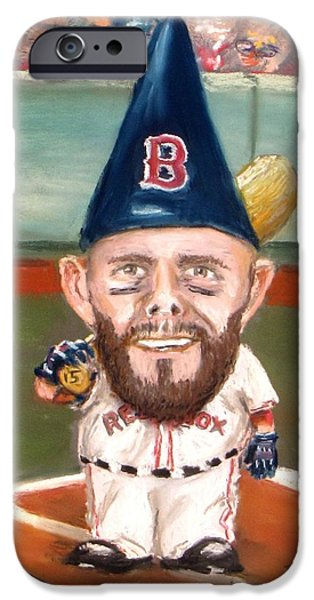 Red Sox Pastels iPhone Cases - Fenways Garden Gnome iPhone Case by Jack Skinner