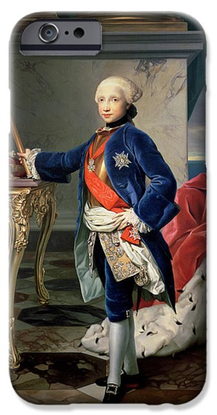 Crown iPhone Cases - Ferdinand Iv, King Of Naples 1751-1825 iPhone Case by Anton Raphael Mengs