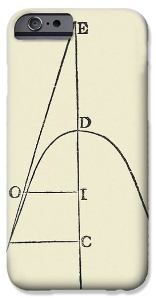 Analytic iPhone Cases - Fermats Tangent Method iPhone Case by Royal Astronomical Society