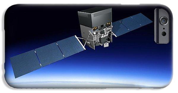 Gamma Ray Burst iPhone Cases - Fermi Gamma-ray Space Telescope, Artwork iPhone Case by Carlos Clarivan
