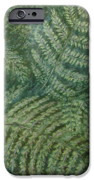 Fern Frenzy iPhone Case by Joann Renner
