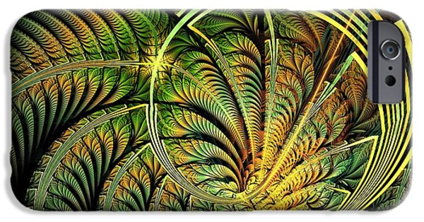 Shine iPhone Cases - Fern Loop iPhone Case by Anastasiya Malakhova