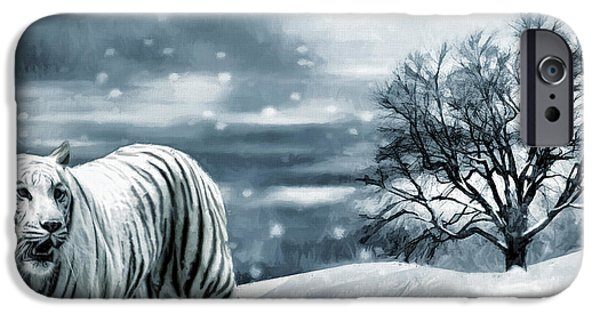Bengal Tiger iPhone Cases - Ferocious Beauty iPhone Case by Lourry Legarde