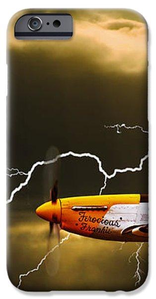 ferocious frankie in a storm iPhone Case by Meirion Matthias