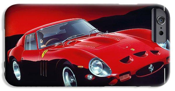 Eighties iPhone Cases - Ferrari 250 GTO iPhone Case by Gavin Macloud