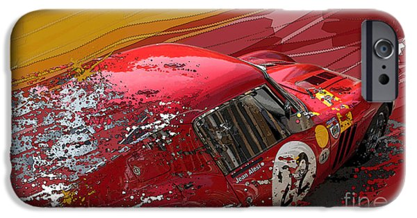 Ferrari 250 Gto iPhone Cases - Ferrari 250 GTO iPhone Case by Roger Lighterness