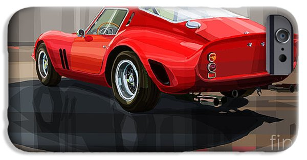Racing iPhone Cases - Ferrari 250 GTO iPhone Case by Yuriy Shevchuk