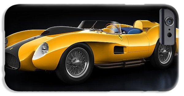 Old Cars iPhone Cases - Ferrari 250 Testa Rossa - Bloom iPhone Case by Marc Orphanos