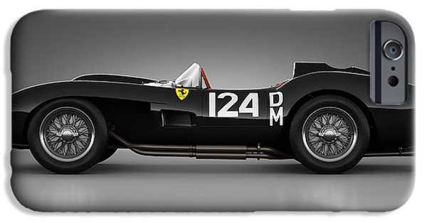 Old Cars iPhone Cases - Ferrari 250 Testa Rossa - Rosette iPhone Case by Marc Orphanos
