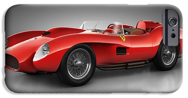 Old Cars iPhone Cases - Ferrari 250 Testa Rossa - Spirit iPhone Case by Marc Orphanos