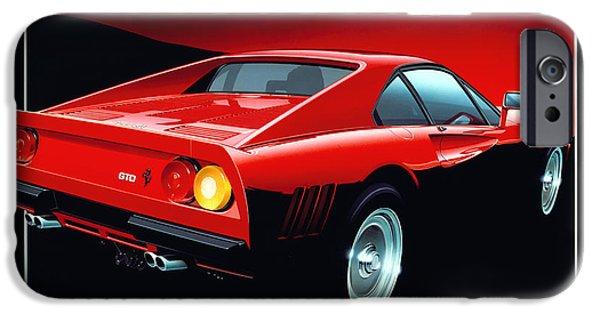 1980s iPhone Cases - Ferrari 288 GTO  iPhone Case by Gavin Macloud