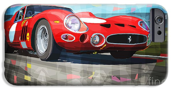 Ferrari Gto iPhone Cases - Ferrari 330 GTO 1962 iPhone Case by Yuriy Shevchuk