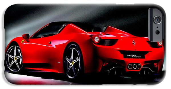 French Open Mixed Media iPhone Cases - Ferrari 458 Spider iPhone Case by Brian Reaves