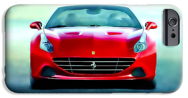 French Open Mixed Media iPhone Cases - Ferrari California iPhone Case by Brian Reaves