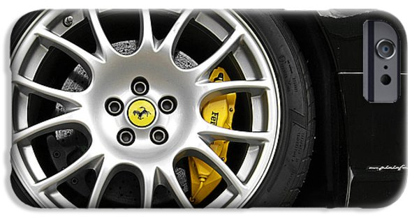 Yellow Images iPhone Cases - Ferrari Challenge Stradale Wheel iPhone Case by Gill Billington