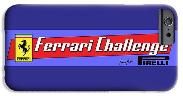 Circuit iPhone Cases - Ferrari Competizioni iPhone Case by Dan Haraga