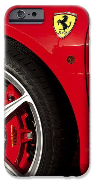 Ferrari Emblem 3 iPhone Case by Jill Reger