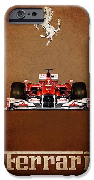 Formula Car iPhone Cases - Ferrari F10 iPhone Case by Mark Rogan