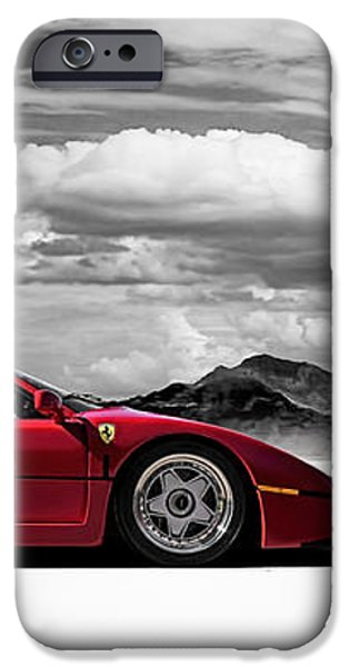 Ferrari F40 iPhone Case by Douglas Pittman