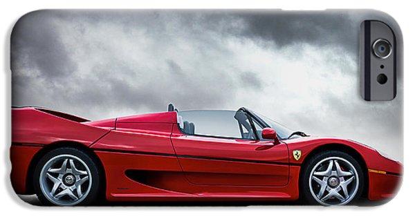 Red Digital Art iPhone Cases - Ferrari F50 iPhone Case by Douglas Pittman