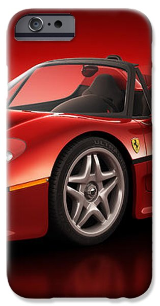 Ferrari F50 - Flare iPhone Case by Marc Orphanos
