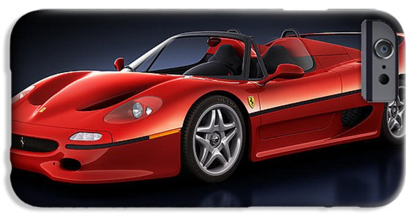 Old Cars iPhone Cases - Ferrari F50 - Phantasm iPhone Case by Marc Orphanos
