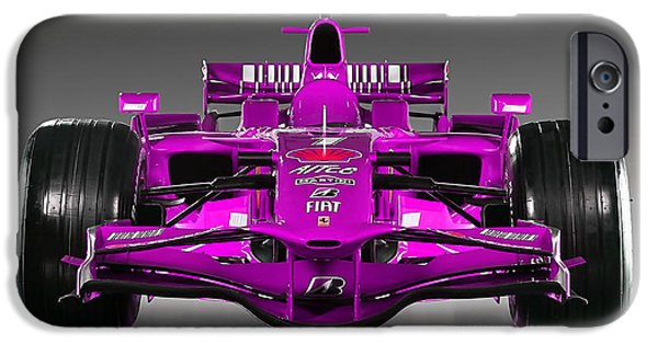 Racing Cars iPhone Cases - Ferrari Formula 1 iPhone Case by Marvin Blaine
