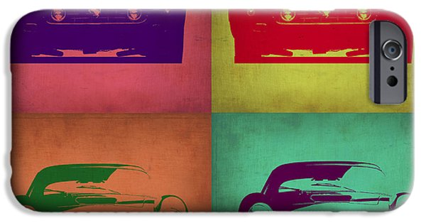 Concept Digital Art iPhone Cases - Ferrari Front Pop Art 1 iPhone Case by Naxart Studio