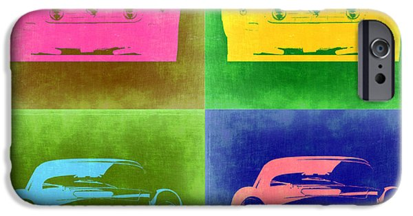 Concept Digital Art iPhone Cases - Ferrari Front Pop Art 3 iPhone Case by Naxart Studio