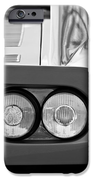 Ferrari Gto iPhone Cases - Ferrari GTO 288 Taillight -0635bw iPhone Case by Jill Reger
