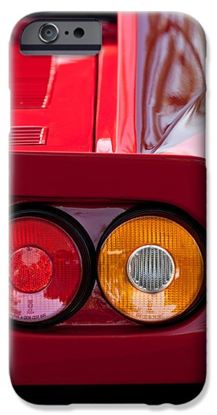 Ferrari Gto iPhone Cases - Ferrari GTO 288 Taillight -0635c iPhone Case by Jill Reger