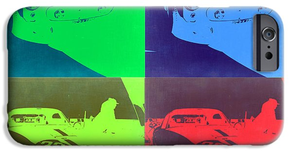 Ferrari Gto iPhone Cases - Ferrari GTO Pop Art 2 iPhone Case by Naxart Studio