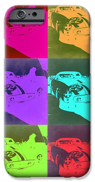 Ferrari Gto iPhone Cases - Ferrari GTO Pop Art 3 iPhone Case by Naxart Studio