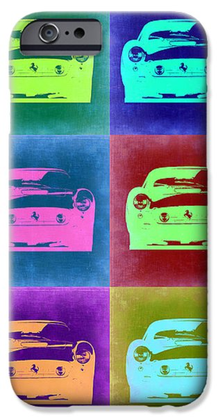Concept Digital Art iPhone Cases - Ferrari Pop Art 2 iPhone Case by Naxart Studio