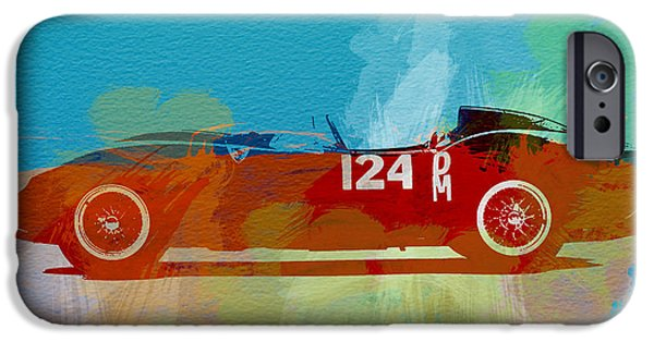 Concept iPhone Cases - Ferrari Testa Rossa Watercolor 1 iPhone Case by Naxart Studio