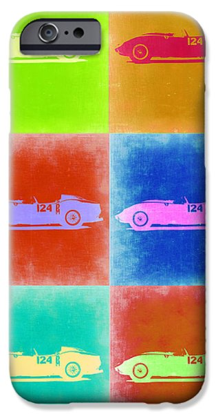 Old Cars iPhone Cases - Ferrari Testarossa Pop Art 2 iPhone Case by Naxart Studio