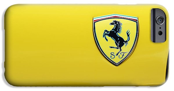 Motif iPhone Cases - Ferrari Yellow iPhone Case by Tim Gainey
