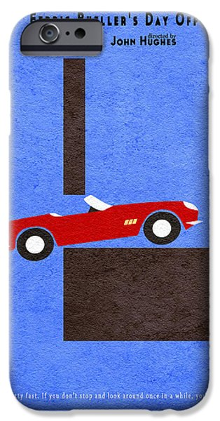Nerd iPhone Cases - Ferris Buellers Day Off iPhone Case by Ayse Deniz