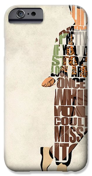 Wall Art Digital Art iPhone Cases - Ferris Buellers Day Off iPhone Case by Ayse Deniz