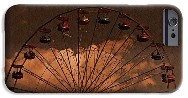 David iPhone Cases - Ferris wheel At Twilight iPhone Case by David Dehner