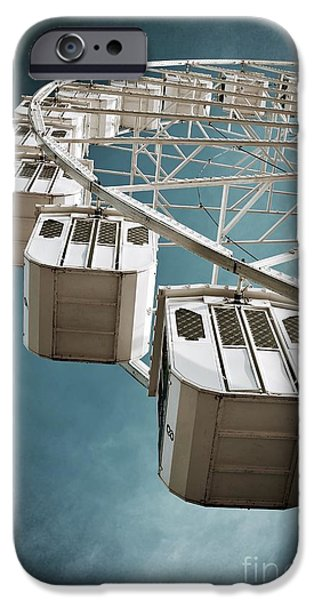 Spin iPhone Cases - Ferris Wheel iPhone Case by Carlos Caetano