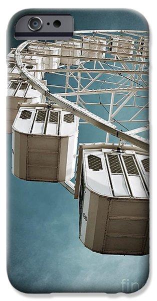 Pleasure iPhone Cases - Ferris Wheel iPhone Case by Carlos Caetano