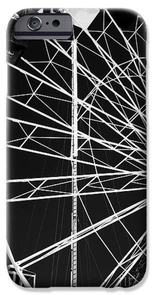 Ferris Wheel Lines iPhone Case by John Rizzuto