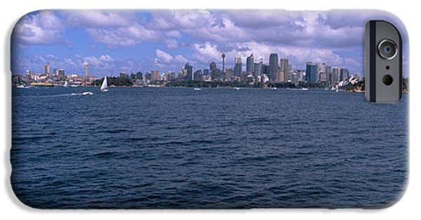 Built Structure iPhone Cases - Ferry In The Sea With A Bridge iPhone Case by Panoramic Images