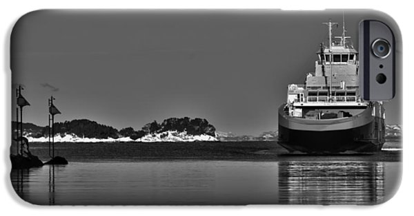 Norway iPhone Cases - Ferry to Nowhere iPhone Case by Erik Brede