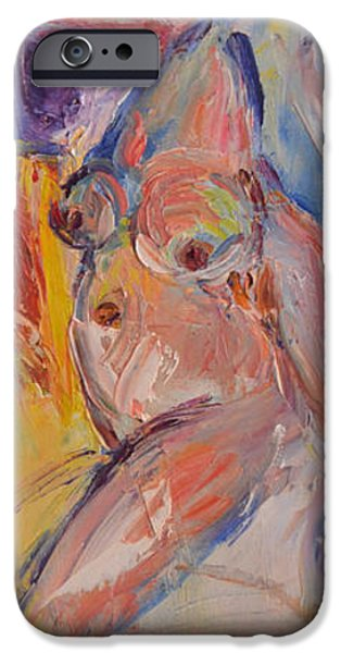 Fertility Paintings iPhone Cases - Fertility II iPhone Case by Mikyong Rodgers