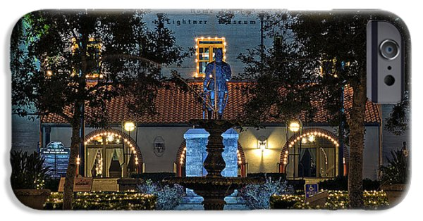 Christmas Holiday Scenery iPhone Cases - Festive Saint Augustine iPhone Case by Kenneth Albin